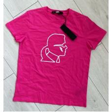 Karl Lagerfeld tričko tmavoružové
