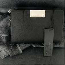 Karl Lagerfeld crossbody čierna so strieborným kovaním