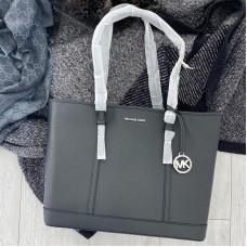 Michael Kors shopper kabelka čierna / strieborná