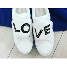 Michael Kors tenisky LOVE biele
